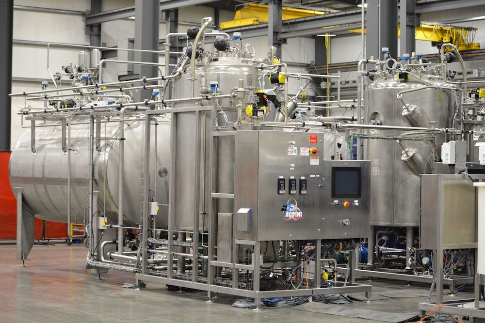 Large industries decontamination system