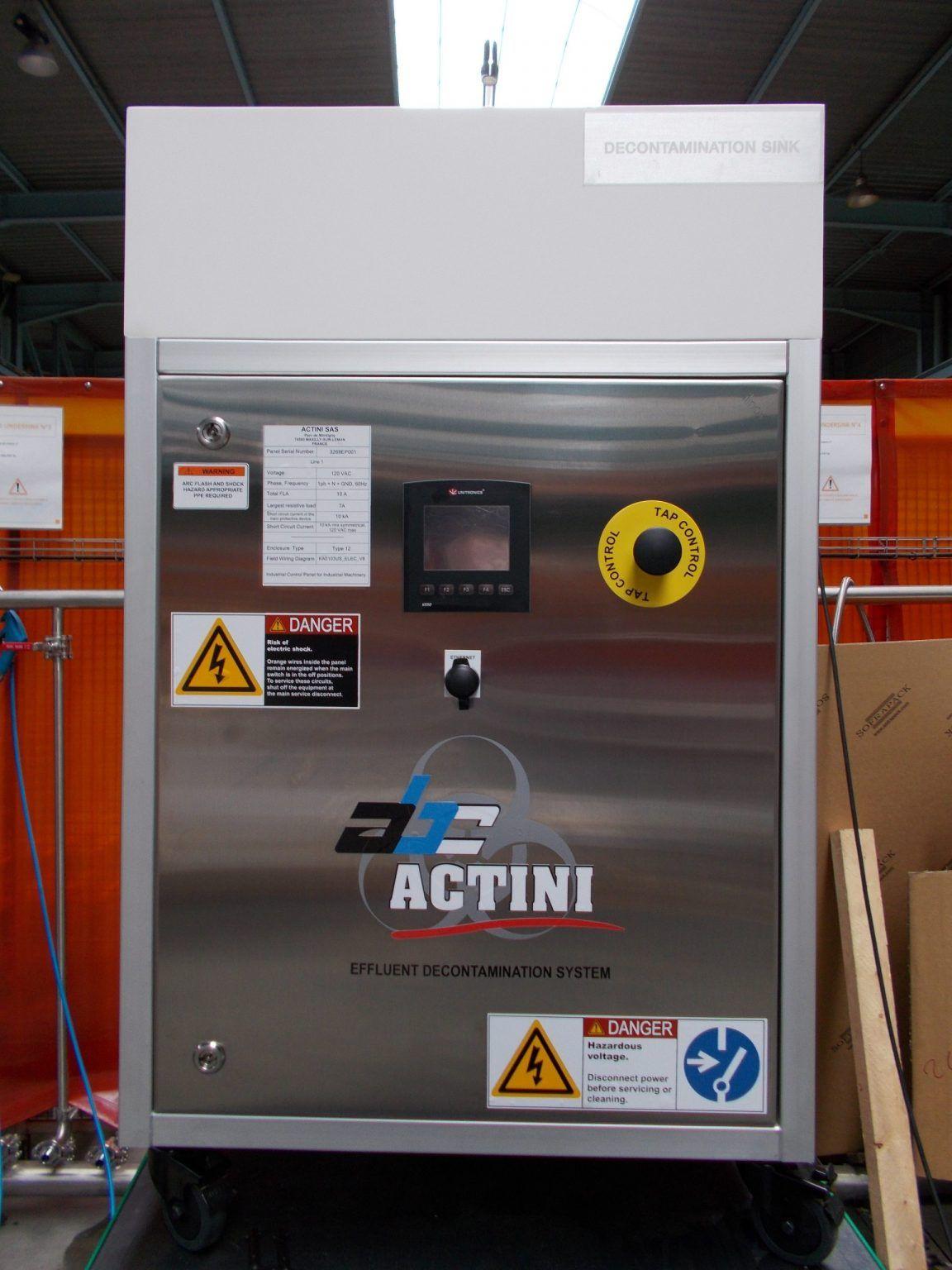 Sink biowaste decontamination system