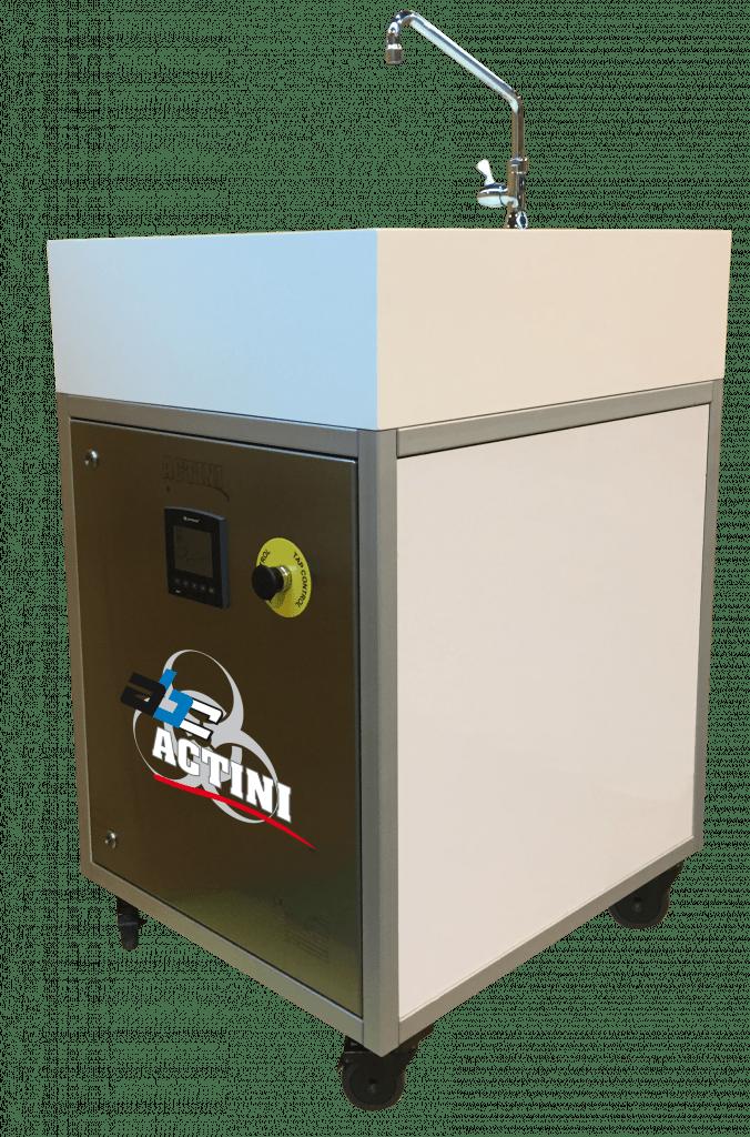 Sink lab biowaste decontamination unit